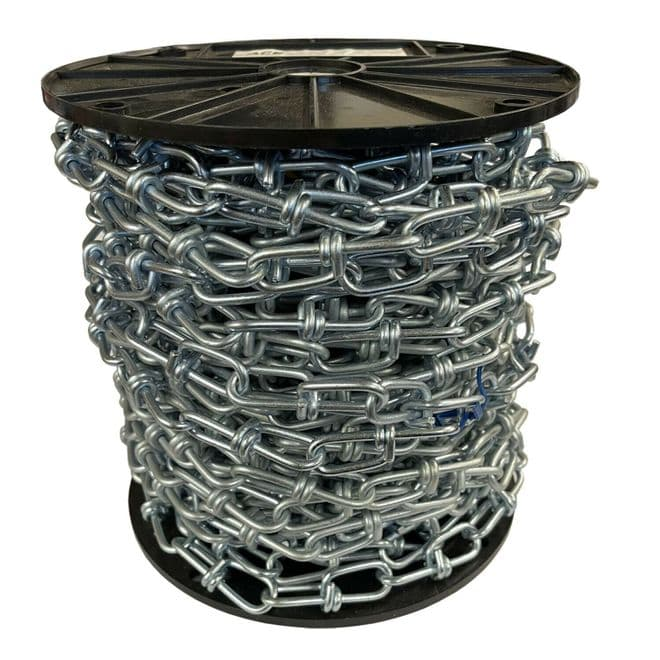 30 metres 4mm ZINC PLATED KNOTTED CHAIN hanging baskets mirrors lights mirror